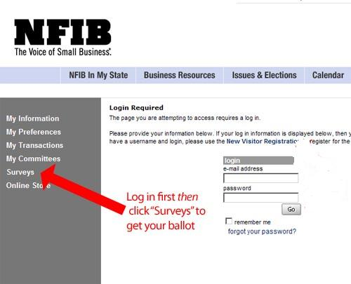 Vote you NFIB members-only ballot