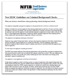 New Guidelines on Criminal Background Checks